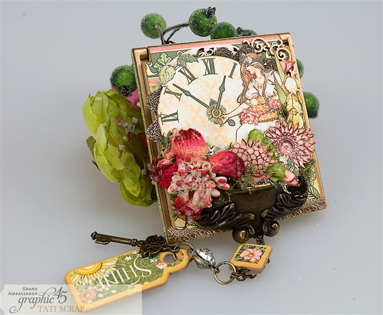 tati, vintage mirror, garden goddess product by graphic 45, photo 1