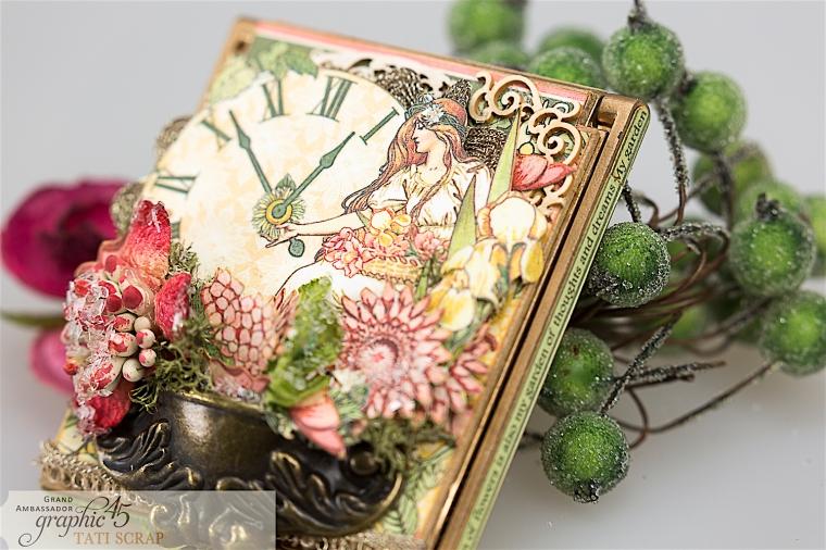 tati, vintage mirror, garden goddess product by graphic 45, photo 10