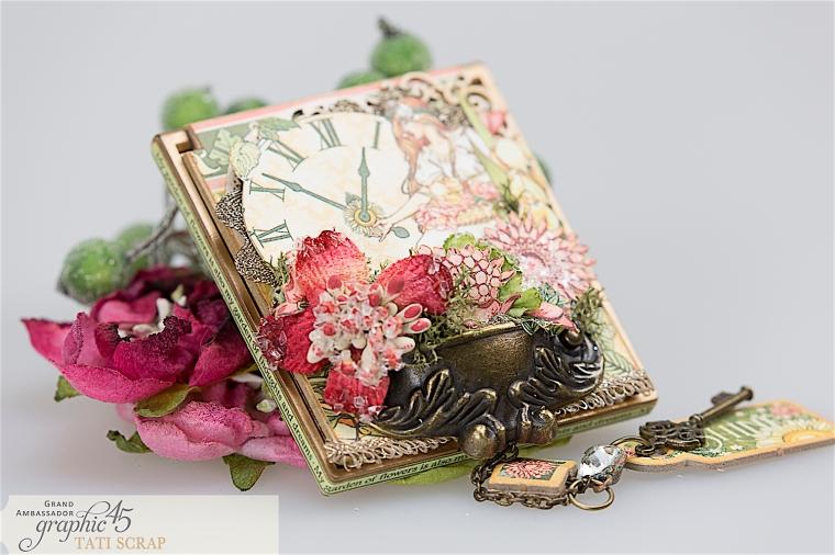 tati, vintage mirror, garden goddess product by graphic 45, photo 11