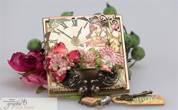 tati, vintage mirror, garden goddess product by graphic 45, photo 12
