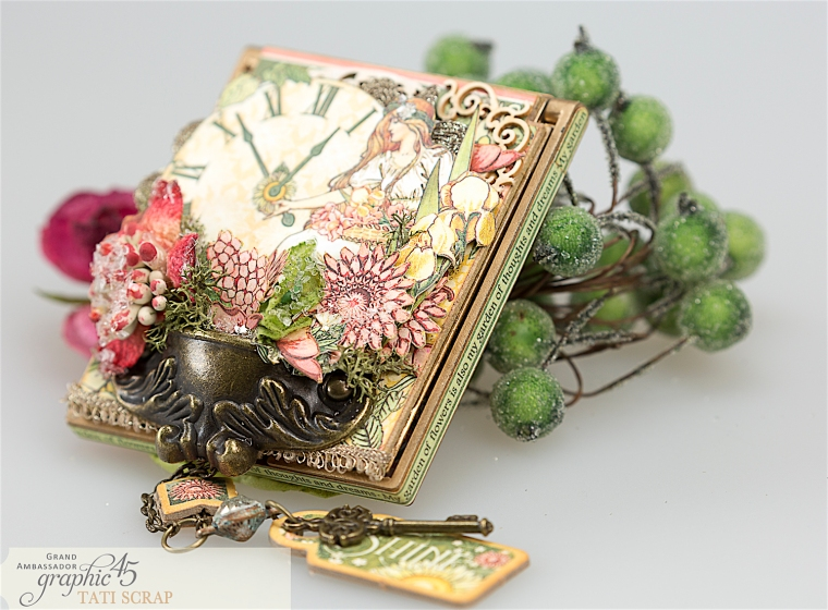 tati, vintage mirror, garden goddess product by graphic 45, photo 13