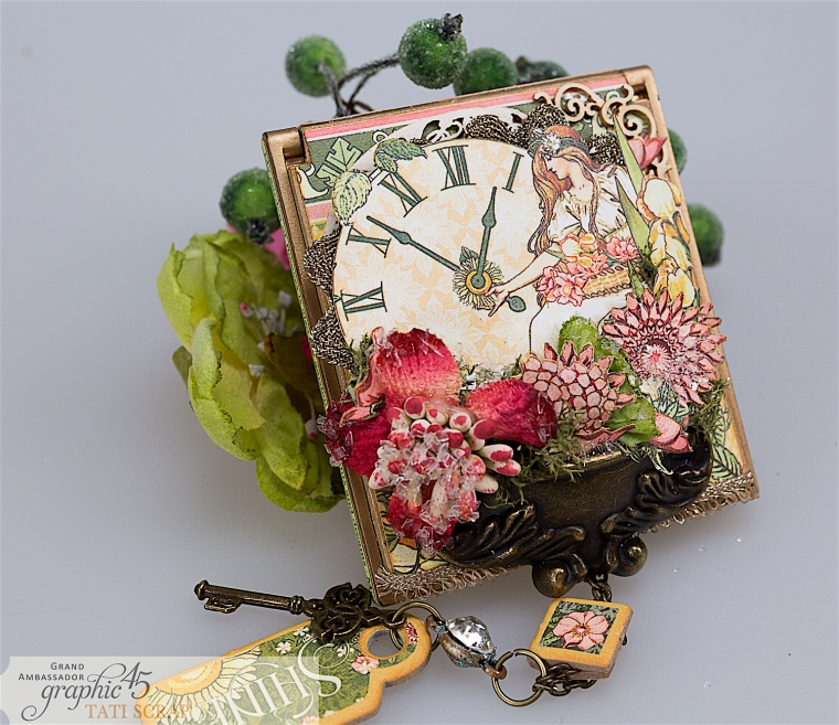 tati, vintage mirror, garden goddess product by graphic 45, photo 14