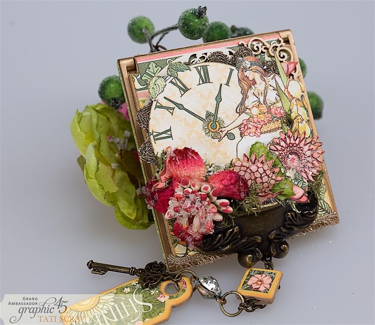 tati, vintage mirror, garden goddess product by graphic 45, photo 14