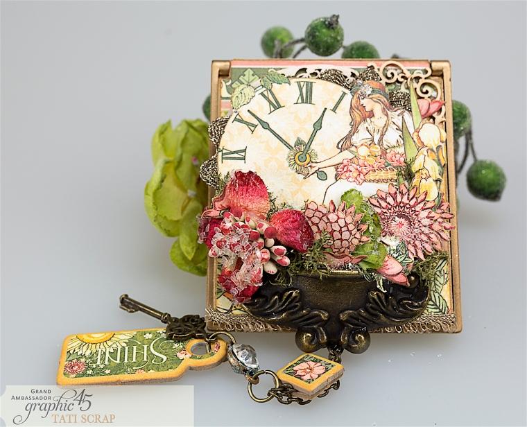 tati, vintage mirror, garden goddess product by graphic 45, photo 15