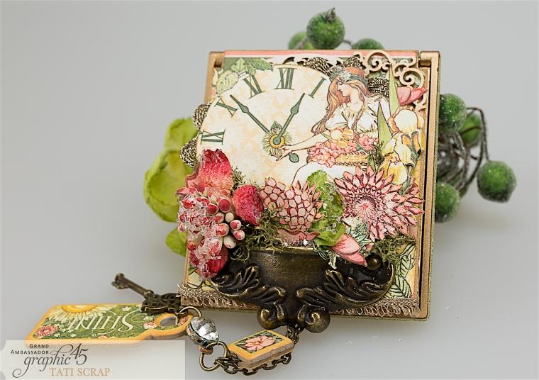 tati, vintage mirror, garden goddess product by graphic 45, photo 2