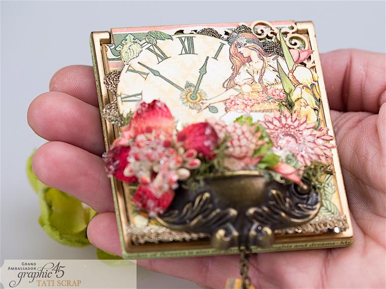 tati, vintage mirror, garden goddess product by graphic 45, photo 5