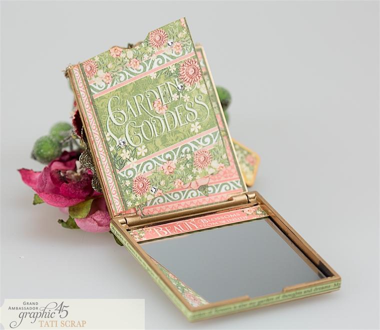 tati, vintage mirror, garden goddess product by graphic 45, photo 8