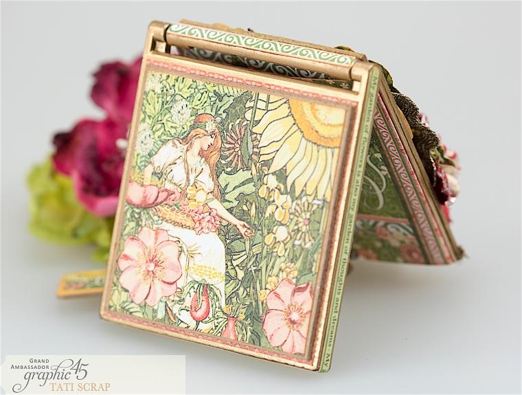 tati, vintage mirror, garden goddess product by graphic 45, photo 9