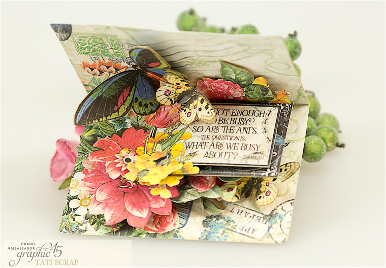 tati, flutter pop up card, product by graphic 45, photo 2