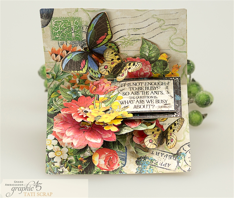 tati, flutter pop up card, product by graphic 45, photo 3