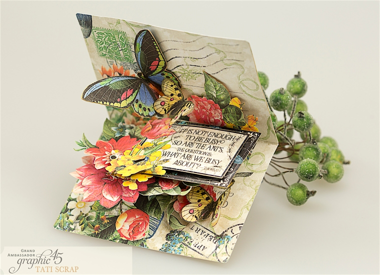 tati, flutter pop up card, product by graphic 45, photo 4