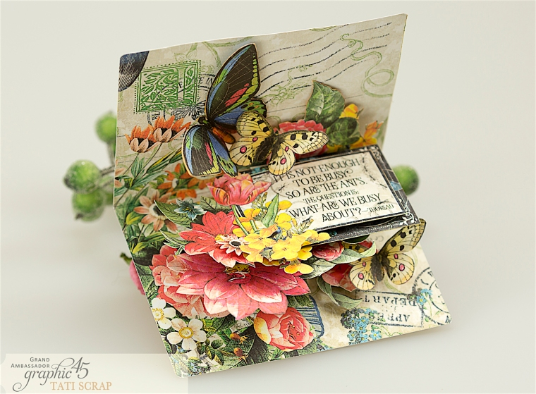tati, flutter pop up card, product by graphic 45, photo 6