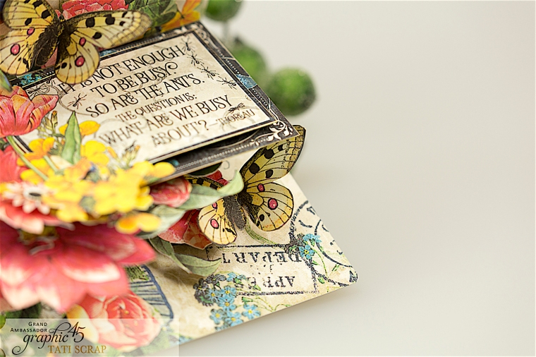 tati, flutter pop up card, product by graphic 45, photo 7