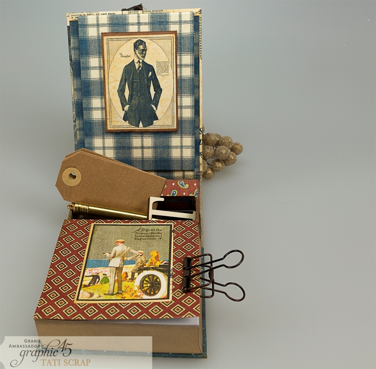 Tati, A Proper Gentleman, Note Holder, Product by Graphic 45, Photo 10
