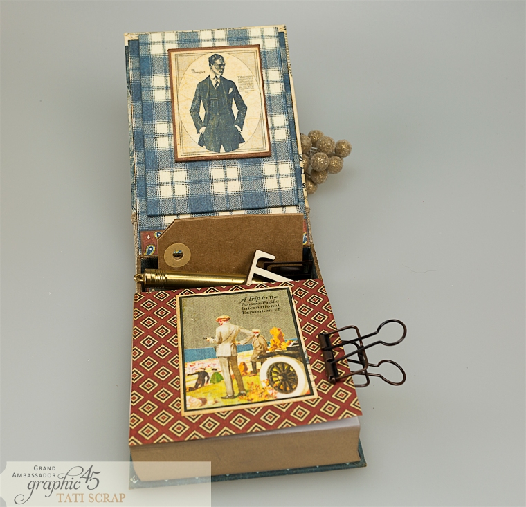 Tati, A Proper Gentleman, Note Holder, Product by Graphic 45, Photo 11