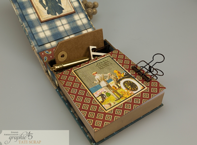Tati, A Proper Gentleman, Note Holder, Product by Graphic 45, Photo 13