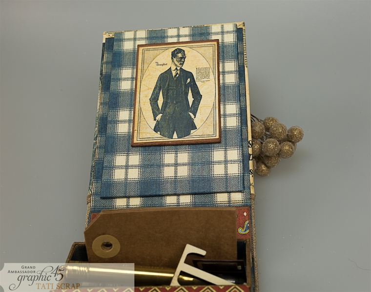 Tati, A Proper Gentleman, Note Holder, Product by Graphic 45, Photo 14