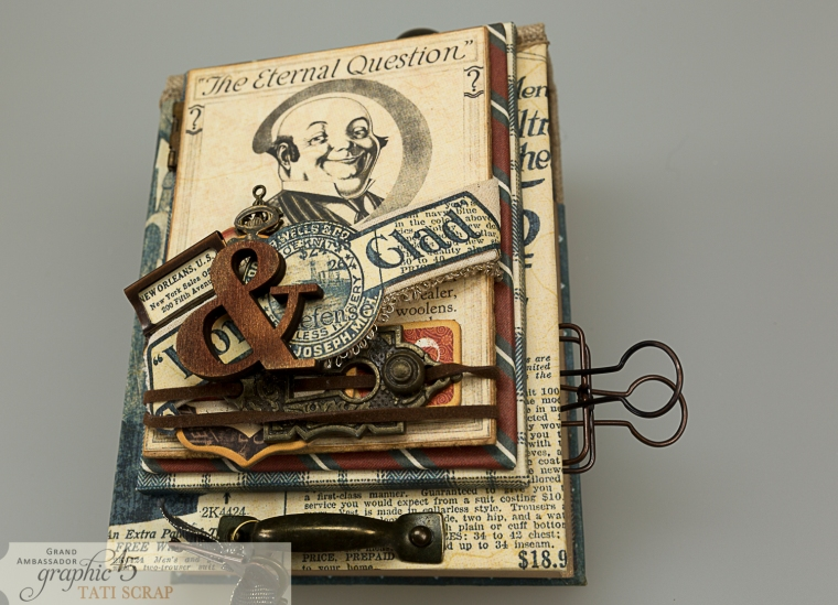 Tati, A Proper Gentleman, Note Holder, Product by Graphic 45, Photo 18
