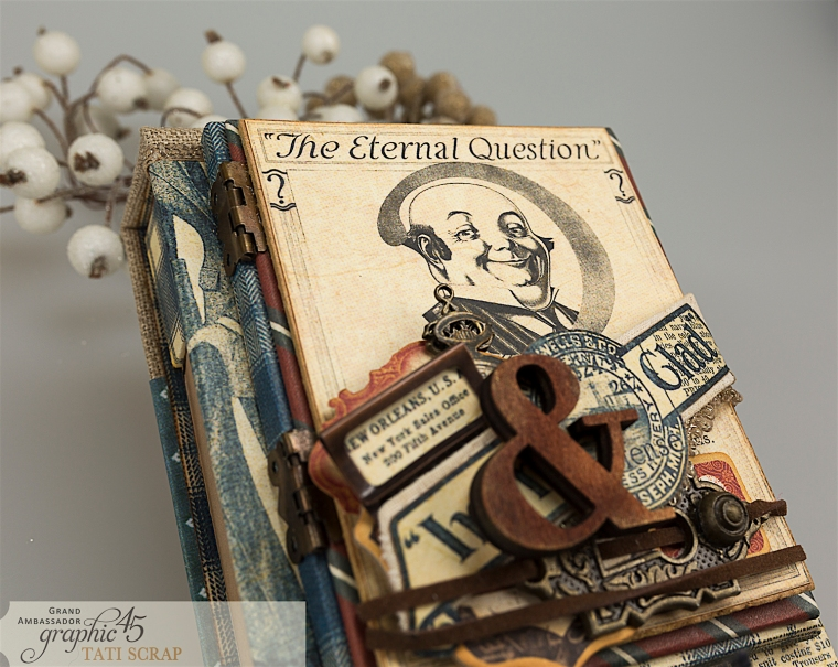 Tati, A Proper Gentleman, Note Holder, Product by Graphic 45, Photo 4