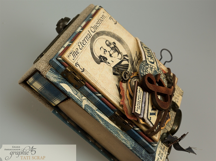 Tati, A Proper Gentleman, Note Holder, Product by Graphic 45, Photo 6